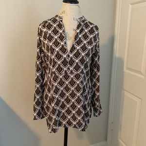 A.L.C silk patterned blouse
